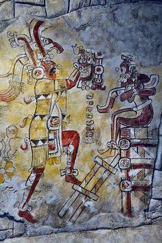 STAR GATES: San Bartolo, Guatemala,  Mayan painting. 100 BC