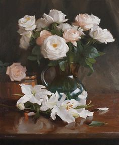 Laurie Kersey - Roses & Lilies- Oil