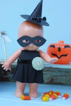 Vintage Style Halloween Kewpie Doll - Wand
