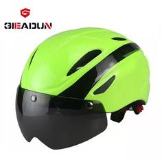 7e3c81f5d Novo capacete de bicicleta com lente à prova de vento capacete tamanho L  Capacete de Ciclismo