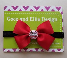 Mickey mouse inspired bow headband/mouse headband/minnie mouse