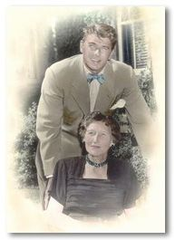 Ronald Reagan with his mother Nelle.