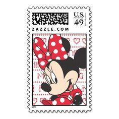 Red & White Minnie 3 Stamp