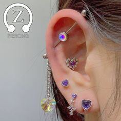 The Ultimate Ear Piercings Types Guide Cute Ear Piercings, Dermal Piercing, Body Piercings, Piercing Tattoo, Tongue Piercings, Ear Jewelry, Cute Jewelry, Body Jewelry, Jewelry Art