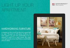#LightUpYourApartment Hardworking Furniture A daybed can be a couch by day and a guest bed by night. Plumped up with plenty of pillows for back support, you can sink comfortably on to a daybed to watch TV or read a book. But when overnight guests come, they'll have a comfortable place to sleep. http://samraatgroup.com/ #Apartment #HomeDesign #Homeinteriors #SamraatGroup #Nashik #Decorations #Tips