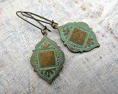 Bohemian earrings Moroccan Ethnic earrings patina dangle earrings boho Bohemian Jewelry  Magazine Featured. $18.00, via Etsy.