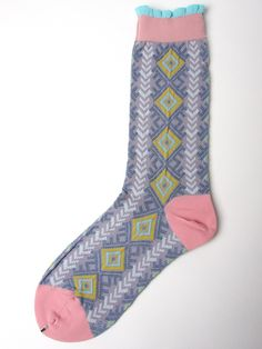 Ayame Rattle Ankle Socks