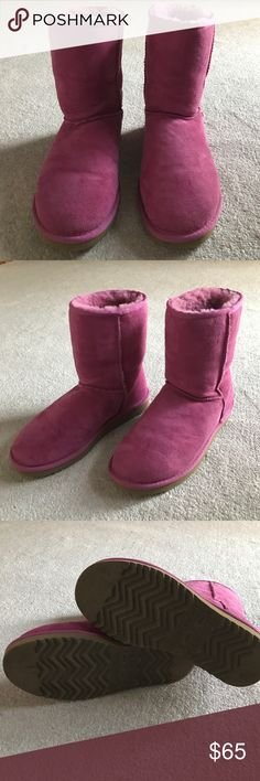 Ugg Fuschia Pink Boots Very good condition! No stains or rips! Very cozy! Good all year! UGG Shoes Winter & Rain Boots
