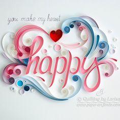 Paper Quilling-Happy