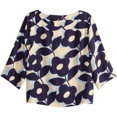H&M Patterned blouse (12 CAD) ❤ liked on Polyvore