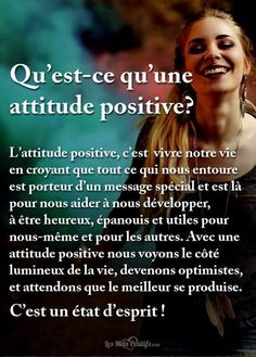 What is a positive attitude? Attitude Positive, Vie Positive, Positive Mind, Positive Affirmations, Positive Vibes, Positive Quotes, Cute Captions, Motivation Positive, My Champion