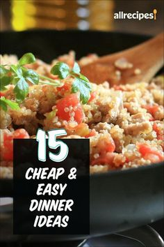 "15 Cheap and Easy Dinners | ""These 15 recipes will save you time and money, plus reward you with full bellies and happy faces at the dinner table. Calling for pantry staples and spices you're sure to have on hand, these recipes require only a handful of ingredients from the store. "" #easy #easyrecipes #quickandeasy #easyrecipesideas Easy Dinners, Quick Easy Meals, Unstuffed Cabbage, Greek Lemon Chicken, Happy Faces, Mixed Vegetables, 30 Minute Meals, Stuffed Hot Peppers, Dinner Table"