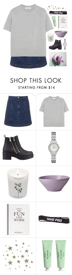 """""""lately i have desperately pondered"""" by i-smell-grunge ❤ liked on Polyvore featuring Topshop, Pringle of Scotland, River Island, Kate Spade, Carriere, Rice, Selfridges, NIKE, ferm LIVING and Byredo"""
