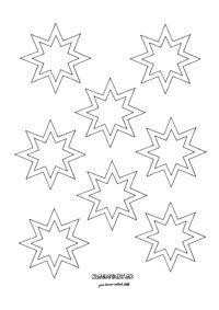 Zimné vystrihovačky na okno - Aktivity pre deti, pracovné listy, online testy a iné Star Template, Templates, Star Diy, Arts And Crafts, Paper Crafts, Disney Coloring Pages, All Holidays, Book Journal, Halloween Diy
