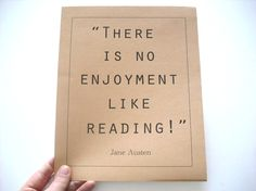 Jane Austen Pride and Prejudice Quote 8x10 Print on by ardenelva, $10.00