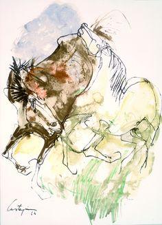 Castagnino, Carlos: Caballos en la llanura