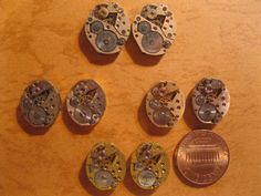 8 Vintage Antique Watch Movement Cufflinks by HandzofTime on Etsy, £17.14