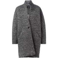 Isabel Marant 'Daryl' coat (7 670 SEK) ❤ liked on Polyvore featuring outerwear, coats, grey, grey coat, isabel marant coat, gray coat, isabel marant and long sleeve coat