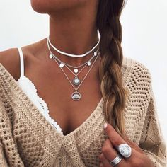 Silver Ring With Stone Info: 1184457615 Fashion Necklace, Fashion Jewelry, Cute Jewelry, Silver Jewelry, Silver Ring, 925 Silver, Sterling Silver, Best Friend Jewelry, Earrings Uk