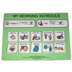 BACK to school PECS Morning Routine Schedule for by adapted4autism