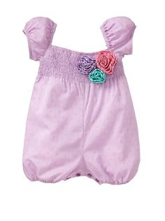 Smocked Overalls, $29 Lola at Moi Little girls Collection