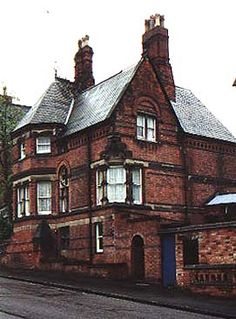 Houses for the Misses Woods, Castle Bank & Lenton Road, The Park, Nottingham. Two of Fothergill's earliest private houses were built on the edge of the Park Estate for the two Wood sisters. Miss Wood, Victorian Gothic, Victorian Houses, Vernacular Architecture, Unique Buildings, Nottingham, Urban Design, Beautiful Homes, Building A House
