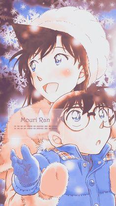 Ran and Conan, watching the snowflakes drifting down. #mielinh