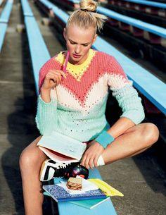 Anne Vyalitsyna by Matt Jones for Elle Italia July 2015 - Valentino Spring 2015