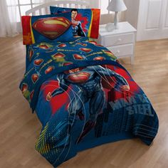 Superman Bedding Sheet Set - Too bad it doesn't come in King size.