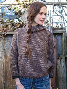 Coburg | Berroco - slipstitch colorwork Use a dark color and then a multicolor yarn?