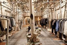 Patrik Ervell pop up store by Graham Hudson, New York store design. Construction site chic! popuprepublic.com