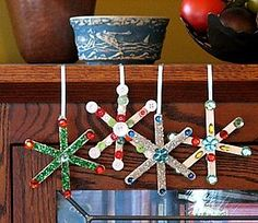 Easy Craft Stick ornament .