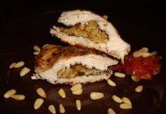 Fenyőmaggal töltött bazsalikomos csirke Cheesesteak, Cooking, Ethnic Recipes, Food, Kitchen, Essen, Meals, Yemek, Brewing