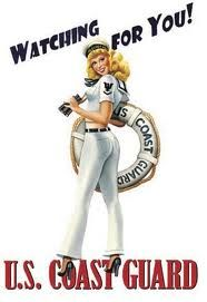 USCG vintage pin up