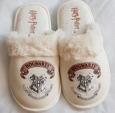 Harry Potter Hogwarts Slippers Laidies Girls Gift mule slippers embroidered logo | Clothes, Shoes & Accessories, Women's Shoes, Slippers | eBay!