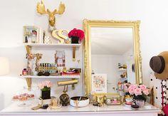 Home Decor Inspiration: Gold Shelf Brackets | Why Don't You Make Me