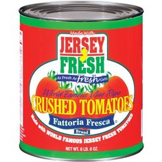 Jersey Fresh Crushed Tomatoes with Basil,  Fattoria Fresca, 28 Ounce (Pack of 12) -- Additional details at the pin image, click it  : Fresh Groceries