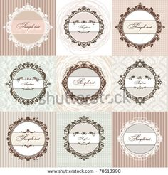 Vector Set: Calligraphic Design Elements And Page Decoration, Premium Quality And Satisfaction Guarantee Label Collection With Vintage Frames - 99201575 : Shutterstock
