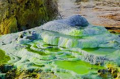 Dallol Volcano salt geyser, Danakil Desert, Ethiopia. God was the first color theorist.