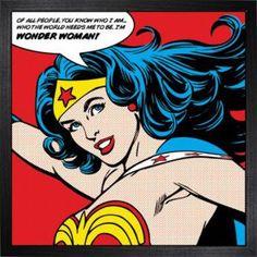 DC Comics De l'art encadré Wonder Woman (Of All People)