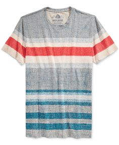 American Rag Men's Textured Striped T-Shirt, Only at Macy's