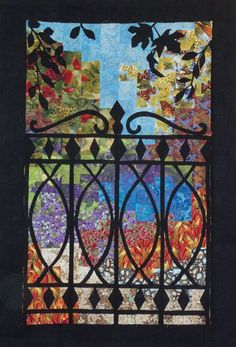 Rita Guertin Art Quilt - Gate With a View