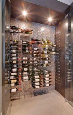 Contemporary Wine Cellar Floor Tile Design, Pictures, Remodel, Decor and Ideas - page 8 Vintage View Wine Racks, Modern Wine Rack, Wine Furniture, Wine Cellar Design, Wine Display, Wine Fridge, Wine And Beer, Wine Storage, Wine Cellars