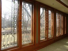 Coonley House windows - Frank Lloyd Wright