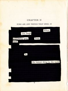 Blackout Poetry when you laugh Blackout Poetry, Poem Quotes, Words Quotes, Sayings, Qoutes, The Words, Pretty Words, Beautiful Words, Beautiful Soul