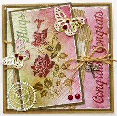Noor! Design Stempel Roses Silhouettes Congrats 6410/0090 door Jenine Langenhof