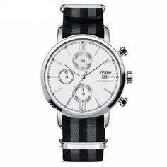 Stylish Nylon Striped Strap Waterproof Quartz Watch [6 Variants]