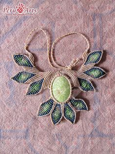 Macrame Necklace Bloom Design