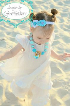 White Linen Dress and Capri Set  Toddler Girls Size by Gwillekkers, $60.00