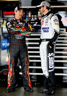 jeff gordon and jimmie johnson | Credit: Rusty Jarrett/Getty Images for NASCAR